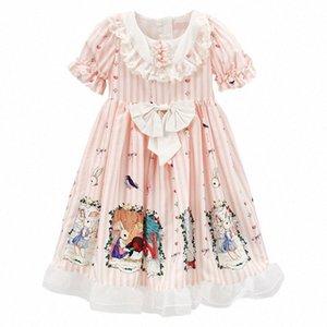 PPXX Kız Prenses Giydirme Masal Lolita Dantel Bow Parti Elbise Örgün Genç Kız Plus Size kızlar giysi Yüksek Kalite i6R1 #