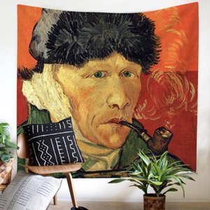 Oil Painting 3D Creative Pattern Tapestry Ployester Wall Hanging Tapestry for Wall Decoration Fabric Home Background Cloth Yoga Mats H376