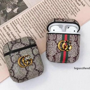 Earphone leather case Earphone Protector with hook Cell Phone Accessories 4 Colors Fashion Brand DHL shipping