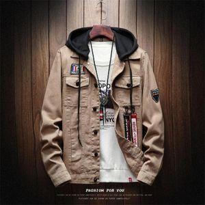 Otoño e invierno nuevo japonés chaquetas con capucha de los hombres de moda de la calle Marca color sólido Manga Larga Inicio delgado del ocio chaquetas para hombre
