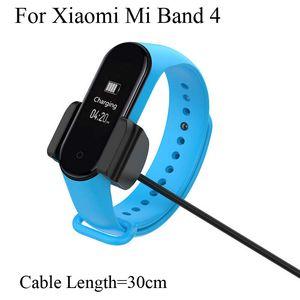 ل xiaomi mi الفرقة 4 شاحن usb 30 سنتيمتر طول شحن كليب الذكية معصمه band4 miband تهمة الكابل جودة عالية