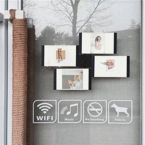 Multi-châssis Blanc Noir bricolage Cadres Home Décor transparent multifonctions Accueil outil Cadres photo Set avec Nail MnSn #