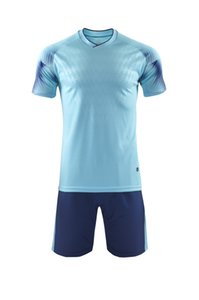 Light Blue Men Football Jersey Best Sale Soccer Jersey Outdoor Soccer Wear High Quality