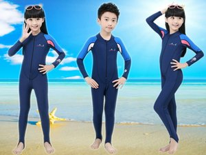Children's wet diving Sunscreen diving suit sun-protective clothing one-piece dive skin swimwear surfing suit
