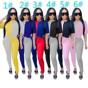 Womens Desiger Outfits manica corta 2 piece set Tuta da jogging Sportsuit Pantaloncini estate Felpa pantaloni vestito di sport di vendita caldi