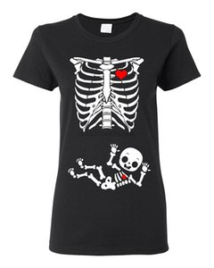 2020 Summer Fashion T Shirt Ladies Baby Boy Skeleton Pregnant (not maternity) DT Black T-Shirt High Quality Top Tees Slim
