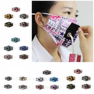 Maske Tasarımcı maskeleri T2I51151 toz geçirmez delik içme suyu, su ile Baskılı yüz maskesi kamuflaj çiçek mektup kelebek saman maskeleri