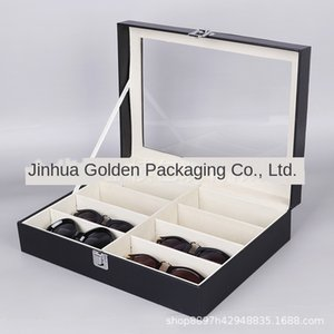 PU leather 8-bit Lens case sun sun sunglasses box sunglasses storage display packaging box