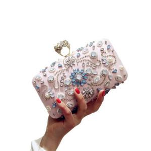 ابيرا 2020 نساء مخلب مساء الكتف حزب الأكمام مساء الزفاف حقيبة حقيبة يد الزفاف Wristlets MN1133