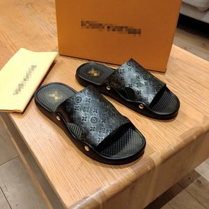Summer Men's Slippers Fashion 2019 New Non-slip Youth Trend Full Grain Leather Sandals Outdoor Beach Slides Flip-flops Shoes