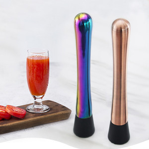 stainless steel Bar broken popsicle Cocktail ice crusher Cocktail stick Bar supplies Fruit Muddle Pestle Popsicle BY DHL