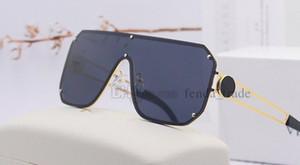 Extragrandes homens óculos de sol sem moldura vintage retro quadrado quadro uma peça sem aro vidros de sol tons gafas de sol cor 5 5PCS Fast Ship