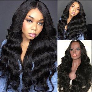 Volle Spitze Menschenhaar-Perücken Lange Körper-Welle 26 Zoll brasilianische Jungfrau-Haar-Perücke mit Baby-Haare für Frauen Gebleichte Knoten