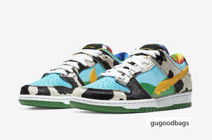 2020 SB Dunk Chunky Dunky Ben Milk Jerry's Ice Cream Skateboard Shoes for Sale Men Women Sport Shoes Free Shipping Size36-45