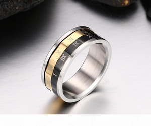 R Rome Password Rings Size 6 -12 Rotatable Ring The Wheel Of Time Men &#039 ;S Jewellery Accessory Free Shipping