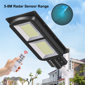 Все в одном Солнечный уличный свет 30W 60W 90W 120W 150W Солнечный уличный свет с Pole Radar Датчик наружного освещения 4 режимов