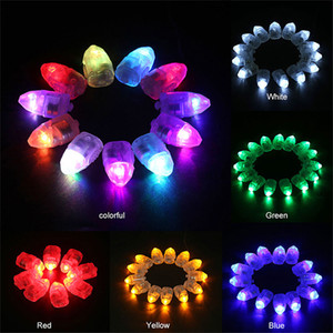 Bunte LED-Ballon-Licht-Blitz-Kugel-Lampen Papier Mini Laterne Ballon-Lampen-Weihnachts Halloween-Party-Dekoration Licht