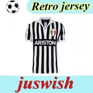 84 85 Retro maillot de foot Wear Mew Free Delivery Retro Classic 1984 1985 Juventus Vintage Soccer Jersey Football Shirt S-2XL Mayorista