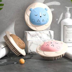 Cartoon Puff Head Massage Home Brushes Baby Bath Bubbles Bathroom Shampoo Scalp Body Brush Shower Scrubber Soft Exfoliating Silicone