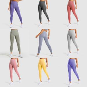 2020 New Style Fashion Hot Women Sport Yoga Skinny Leggings Patchwork High Waist Fitness Exercise Jogging Pants Trouser#379