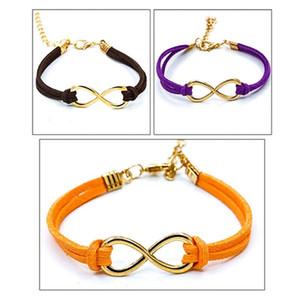 Infinity Bracelets Cross Leather Bracelets For Women Men Gift Hot European Bangles Men Jewelry Punk Vintage Infinity 8 Christmas Gift
