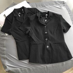 Малые костюм куртка женщин все соответствующие коротким рукавом d клип куртка рукав зажим кардиган рубашка 4,17