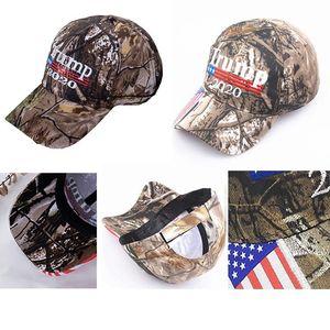 Camo Donald Trump Hat Marque Amérique Grand MAGA Caps USA Flag Lettre de broderie 3D Snapback Camouflage Hommes Casquette de baseball pour les femmes DHD244