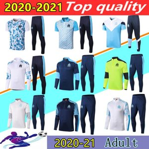 2020 2021 Olympique de Marseille training suit Maillot De Foot 20 21 PAYET THAUVIN BENEDETTO OM marseille football jogging Polo tracksuit