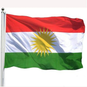 Kurdistan Flag 90x150cm Kurdish National Country Flags 3x5 ft Polyester Fabric Printed Flag Banners with High Quality, free shipping