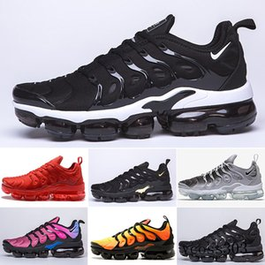 2019 TN PLUS Running Shoes For Men Women Black Speed Red White Anthracite Ultra White Black 2019 Best Designers Sneakers 40-46 G8C1P