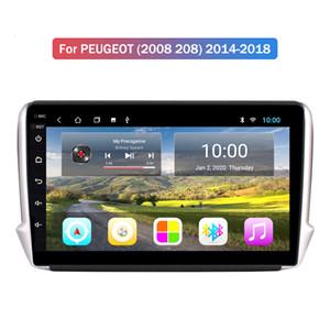 자동차 라디오 안드로이드 9.0 HD 2.5D 10 인치 터치 스크린 2 + 32G를 들어 PEUGEOT (2008 208) 2014-2018 GPS 네비게이터 멀티미디어 플레이어 자동차 스테레오