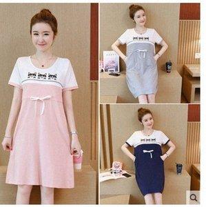 Frauen Mutterschaft Short Sleeve Lieferung Nursing Baby-Nachthemd Stillen Kleid Morgenmantel für Frauen für Schwangere WDGA #