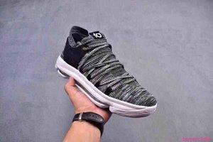 Дюрант X VII EP KD7 Баскетбол обувь Kd 10 X Elite Радуга Oreo Black Gold тапки