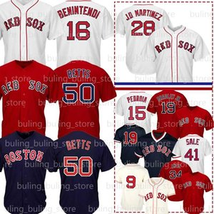 50 Mookie Betts Jersey 16 Andrew Benintendi 28 J. D. Martinez 9 Ted Williams 15 Dustin Pedroia Bradley Jr. Chris Venda David Ortiz 2019