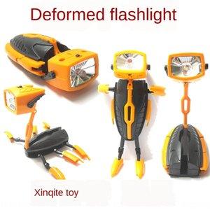 anXbK robot de lampe de poche Deformation robot de combinaison multi-fonctionnelle oeuf OTE économie d'énergie créatrice combinatio Deformation multi-fonctionnelle