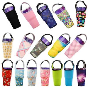 30oz Neoprene Cups Sleeve Bags Tumbler Handler Carrier Holder Pouch Cover For Travel Insulated Coffee Cups Water Bottle IIA273