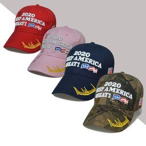 Boné de beisebol Trump 15styles Keep America Great Again Caps 2020 Campaign EUA 45 American Flag Hat Canvas bordado chapéus do partido GGA3611-4