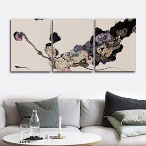 Salon Yatak odası Ev Dekorasyonu Frameless için Kaligrafi Dekoratif Boyama Çince Style Duvar Resimleri Poster Baskı Tuval