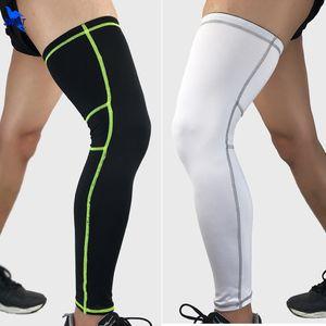1 Pair Lengthen Cycling Legwarmers Basketball Leg Sleeve Knee Pads Elastic Football Shin Guard Leggings Protective Sports Safety