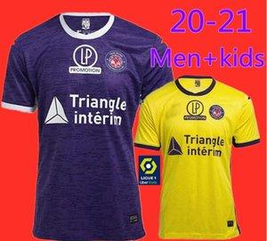 새로운 20 21 FC 툴루즈 축구 셔츠 홈 떨어진 제 2,020 SANGARE DIAKITE 17 19 34 KONE GRADEL 7 상기 실라 25 12 개 JERSEY FOOTBALL 셔츠