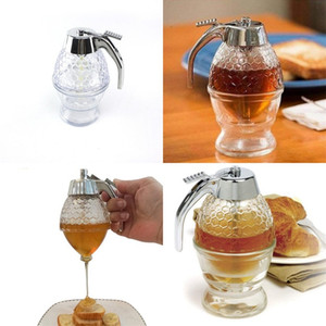 Jam Flasche Chassis Griff Honeycomb Press Honey Pot Bottom Bowl Tray Kunststoff Ketchup-Flaschen Runde Alloter Limpid 7FS C2