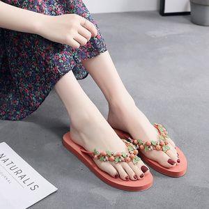 a3f3W Damenschuhe Schuhe Sandalen flache Schuhe 2020 neue Art und Weise Sandalen Online beliebten koreanischen Stil Allgleiches Außen Strand flach Flip-Flops