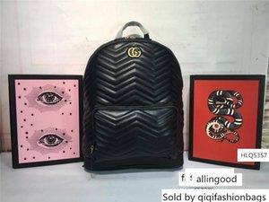 GGG GG 406 370 Blooms Negro PVC verde 5 colores de piel monogramas mochila bolsa de bolsas de tamaño: tamaño de 31,5 * 41 * 14.5cm s 31 41 14 cm