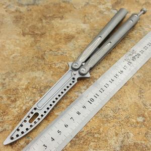 Tacy 3 bilyalı rulmanlar D2 bıçak Titanyum kelebek eğitmen eğitimi bıçak değil keskin El Sanatları Dövüş sanatları Koleksiyon knvies noel hediyesi ADRU