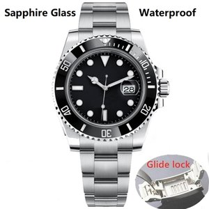 2020 Горячая 3A + Glide Замок керамический ободок Sapphire мужские 2813 Механические автоматические движения водонепроницаемые часы 116610 мужские часы суб Наручные часы