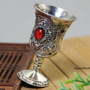 Retro Copper Jewelry Wineglass Accessories A Goblet Collection Cup Exquisite Tallboy Miao Silver Standing Cups Unique Decoration 8 5sq H R