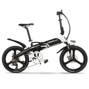 Alta qualità LANKELEISI 20 pollici bicicletta pieghevole elettrica 48V 400W 13Ah L G Batteria E-Bike