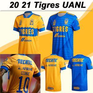 20 21 Tigres Uanl Erkek Futbol Formaları Gignac E. Vargas Quiñones Ev Uzaktan Futbol Gömlek Camisetas de Futebol Kısa Kollu Yetişkin Üniformaları