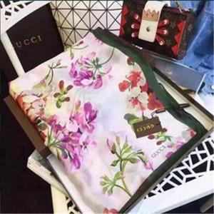 2020 di marca di lusso della seta donne sciarpa Estate Flower Designer sciarpa lunga Label 180x90cm scialle di seta Lettera Sciarpe