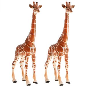 2pcs Realistic Animal Figurine Giraffe Figures, Early Learning Simulation Toys for Kids Toddlers 3 Year Old and Up, 6.7 inch